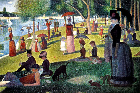 Pointalist art: Sunday Afternoon By Seurat