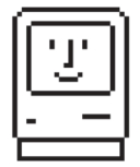 Susan Kare's original happy Mac