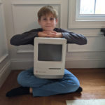 My son and his Classic Mac